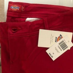 Red Super Skinny Dickies 15